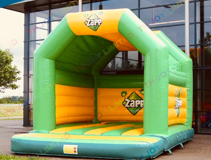 Green bouncy castle