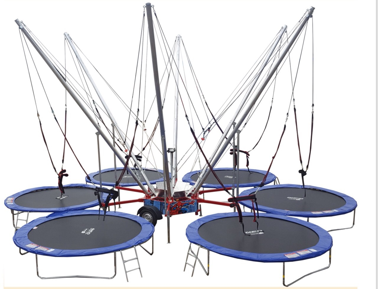 Bungee Trampoline with 6 sits