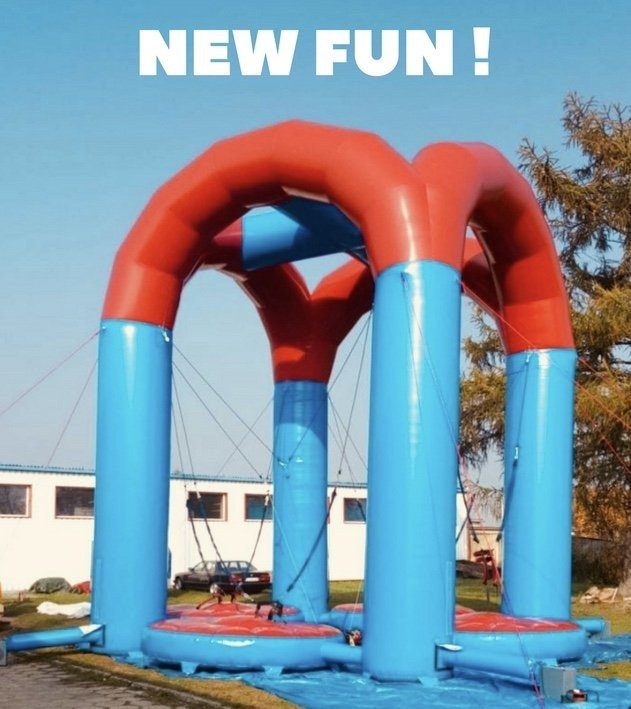 Inflatable bungee trampoline
