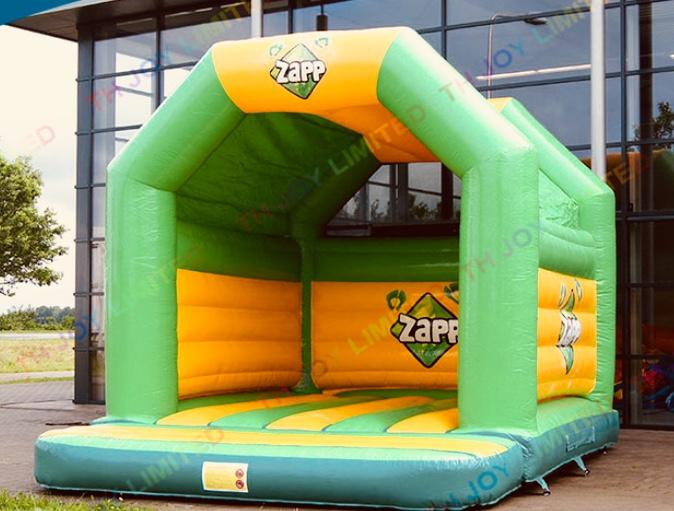 Green bouncy castle